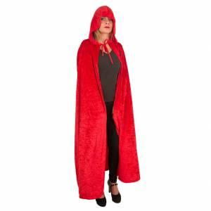 Cape velours rouge