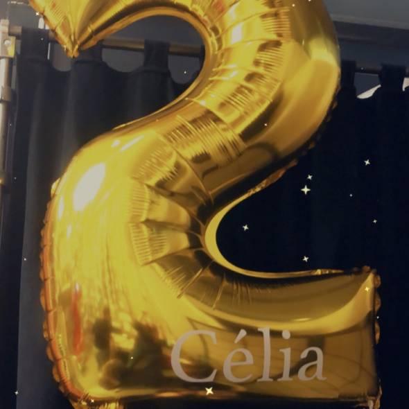 Chiffre anniversaire personnalisé